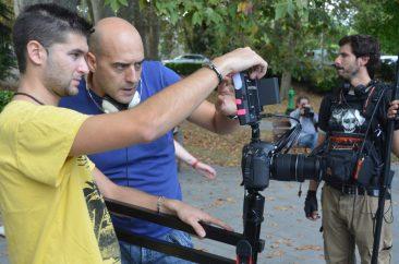 Fotografías durante la grabación del cortometraje Caminante